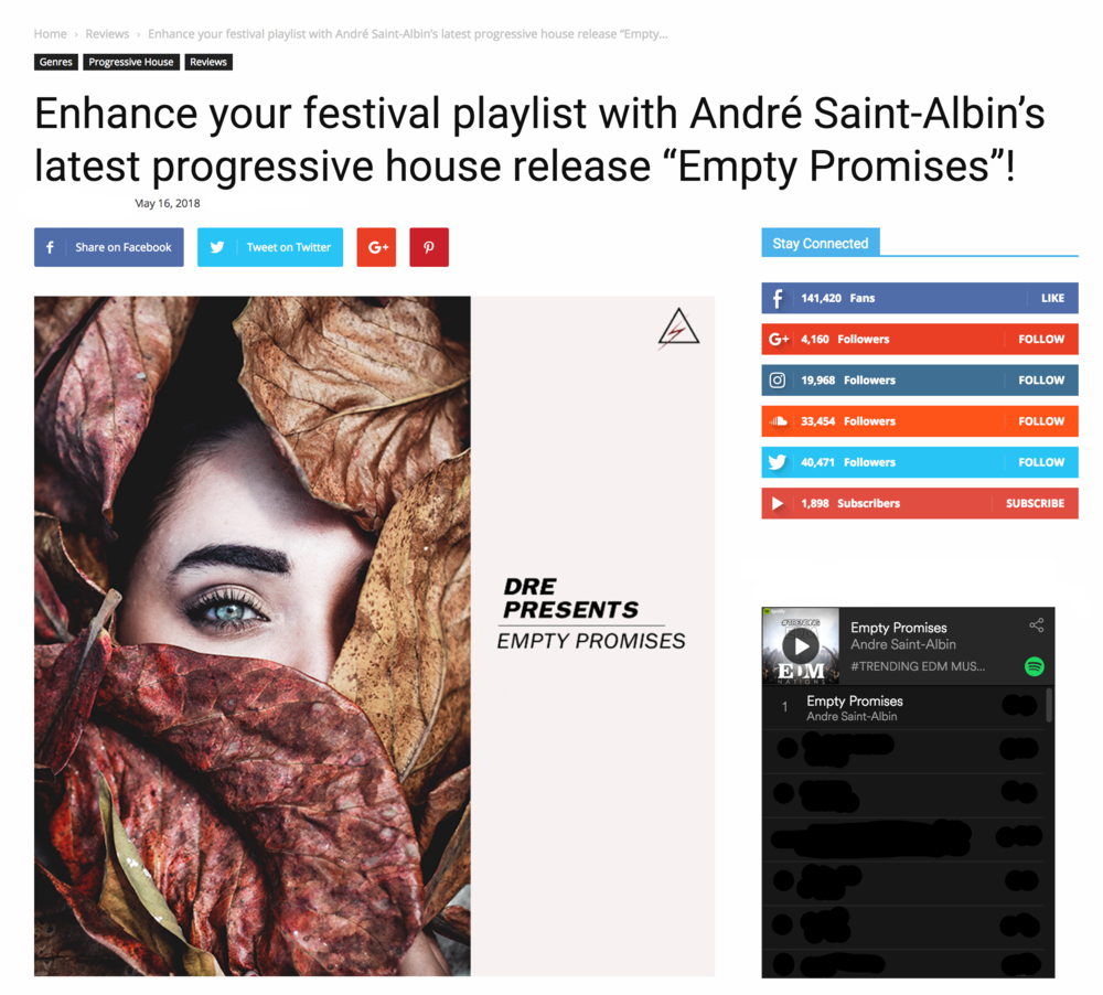 EMPTY PROMISES BY SAINT-ALBIN