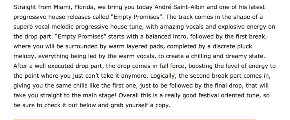 SAINT-ALBIN ANDRE - Empty Promises