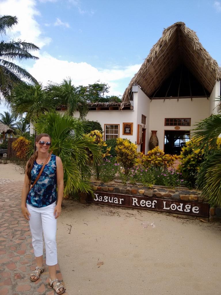 Belize travel expert catarina schmidt at jaguar reef resort on hopkins beach, belize