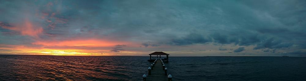 Sunrise on Hatchet Caye, Belize
