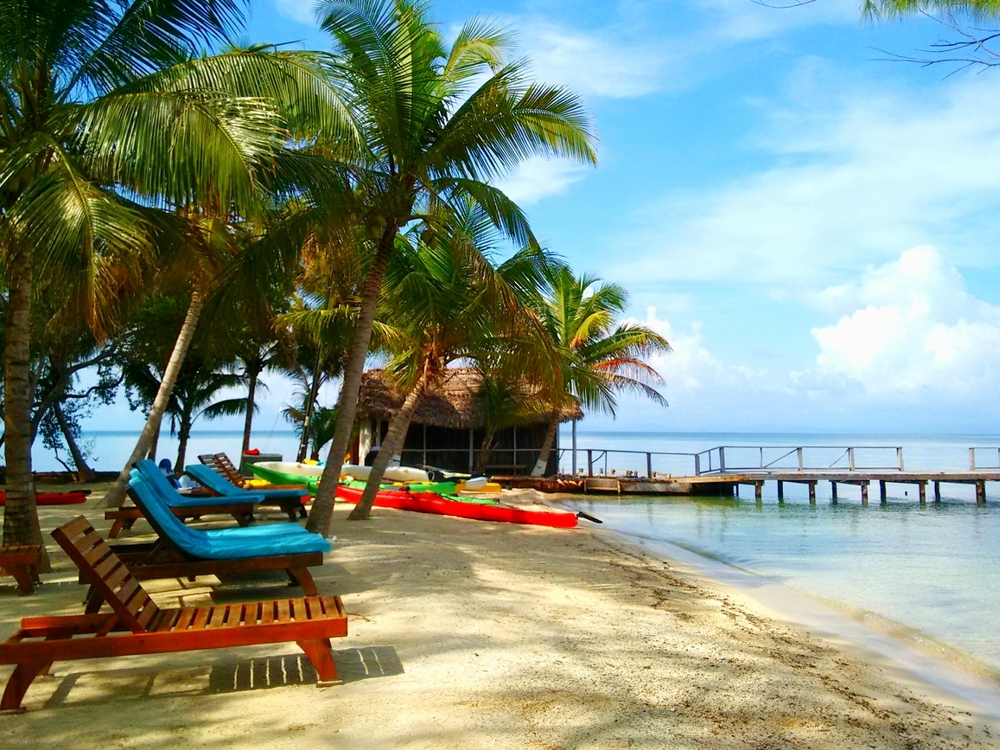 Swim or relax at Thatch Caye