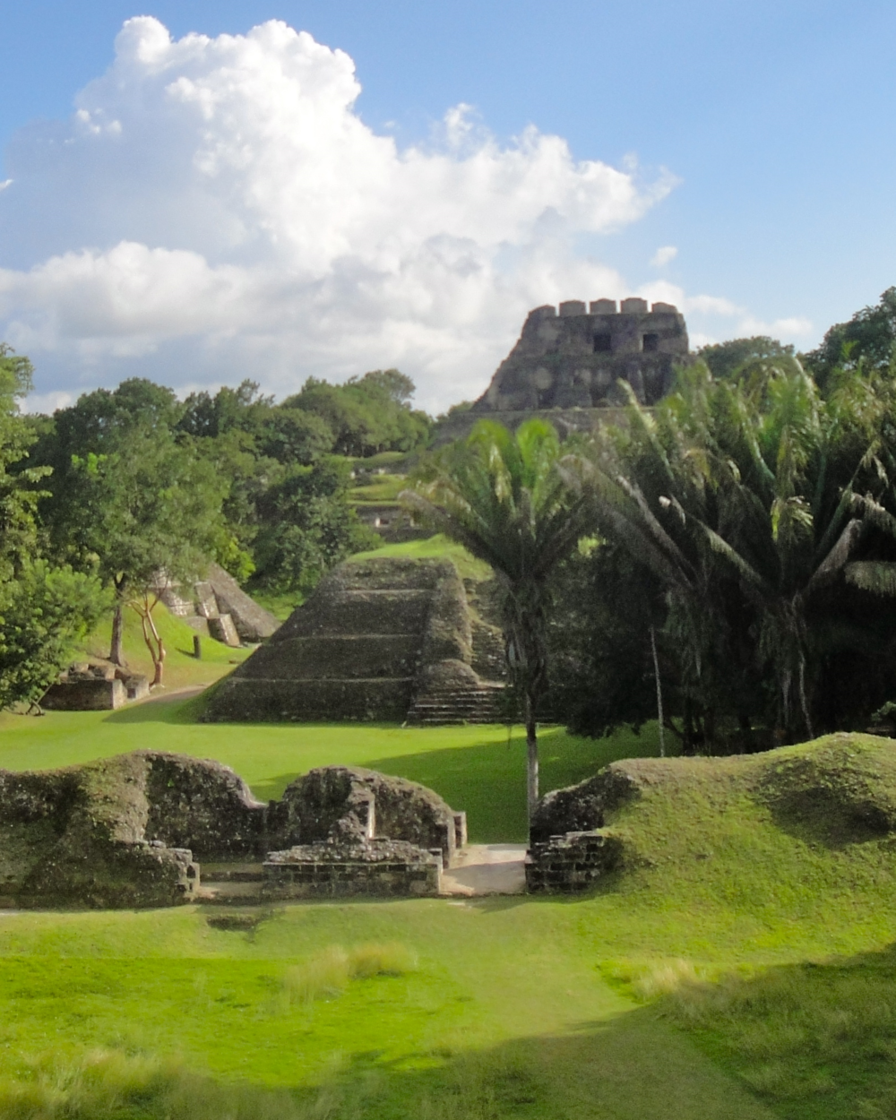El Castillo Temple towers high above the Xunantunich Maya site and offers panoramic views of the western Cayo District