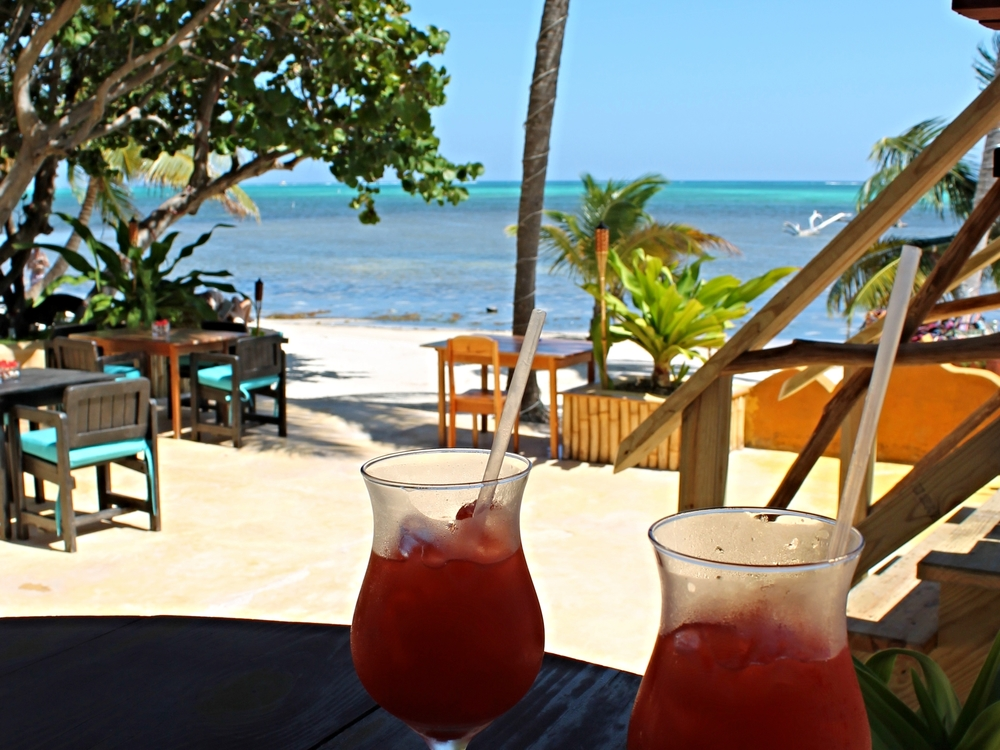 Tropical refreshments - with a view of the reef!