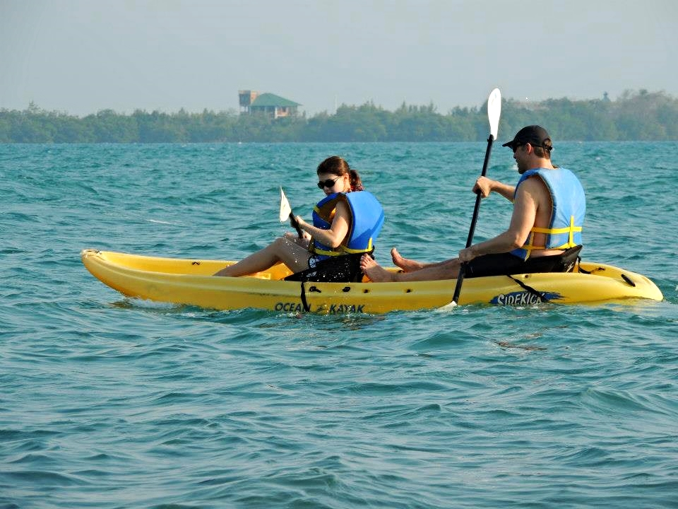 Sea Kayaking is available from all of our featured accommodations in Placencia