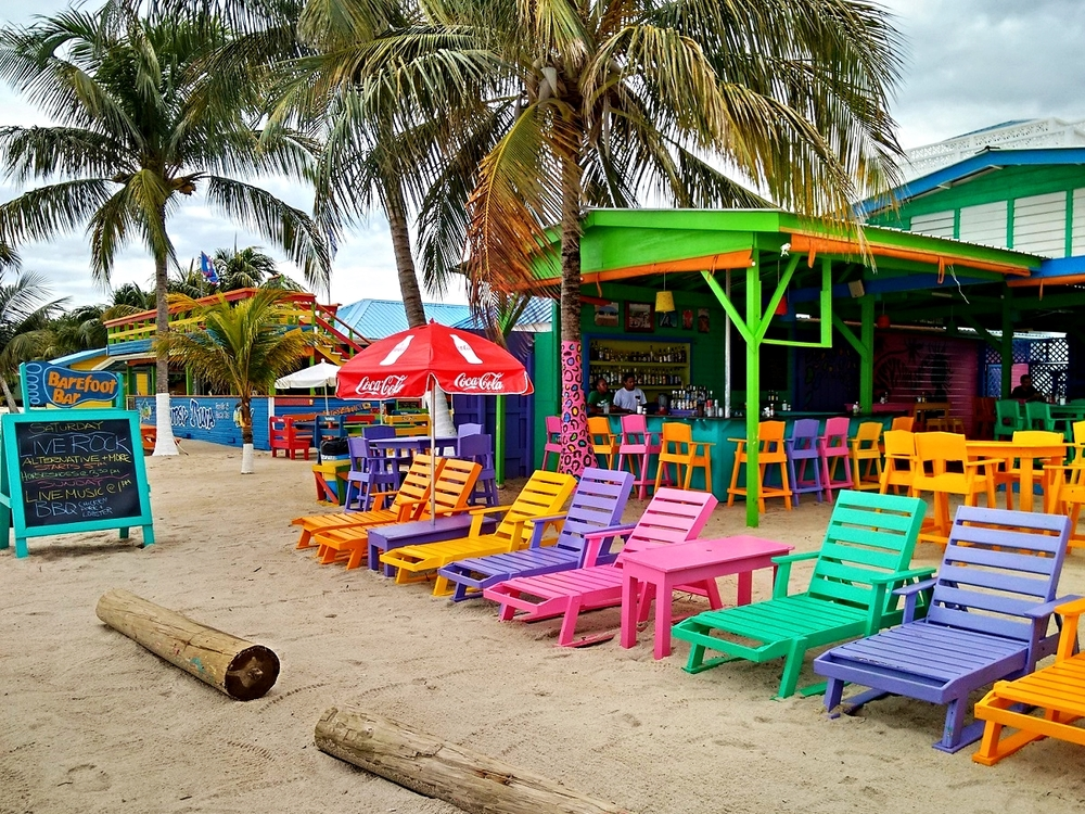 The lively Barefoot Bar in Placencia is a great place to enjoy the fun beach town