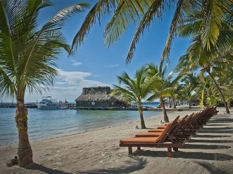 Ramon's Village has one of the best beach-fronts in San Pedro, Ambergris CAYE