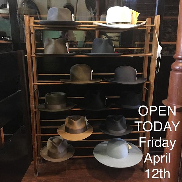 False Alarm, We'll actually be OPEN today! I prepped ribbon for these babies! They're soo close to finish. #hatsinprogress #customhat #madeinsanfrancisco