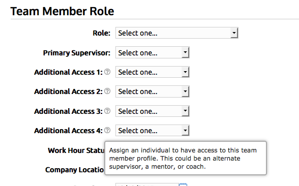Ability to assign up to 4 additional access team members to a profile.