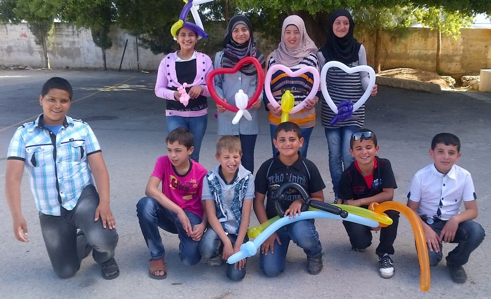 New friends in the Jenin region of the West Bank, 2013.