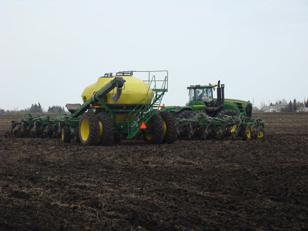 Seeding in Melfort, 2011.