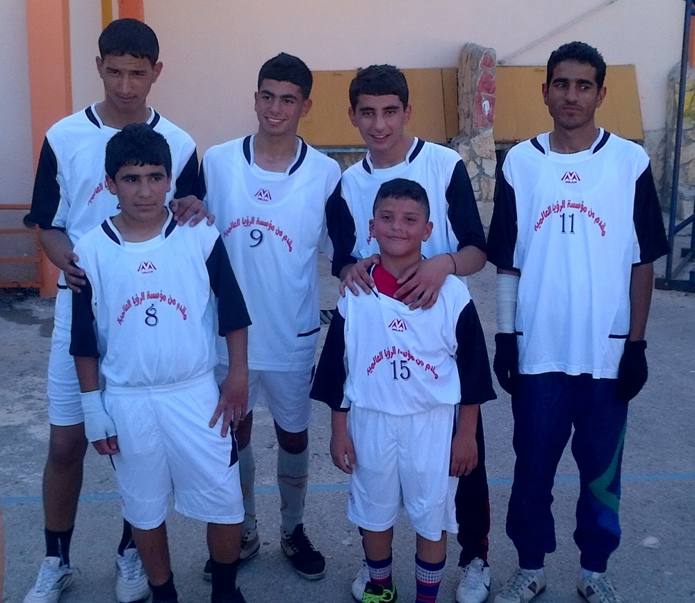A football (soccer) team in Jenin.