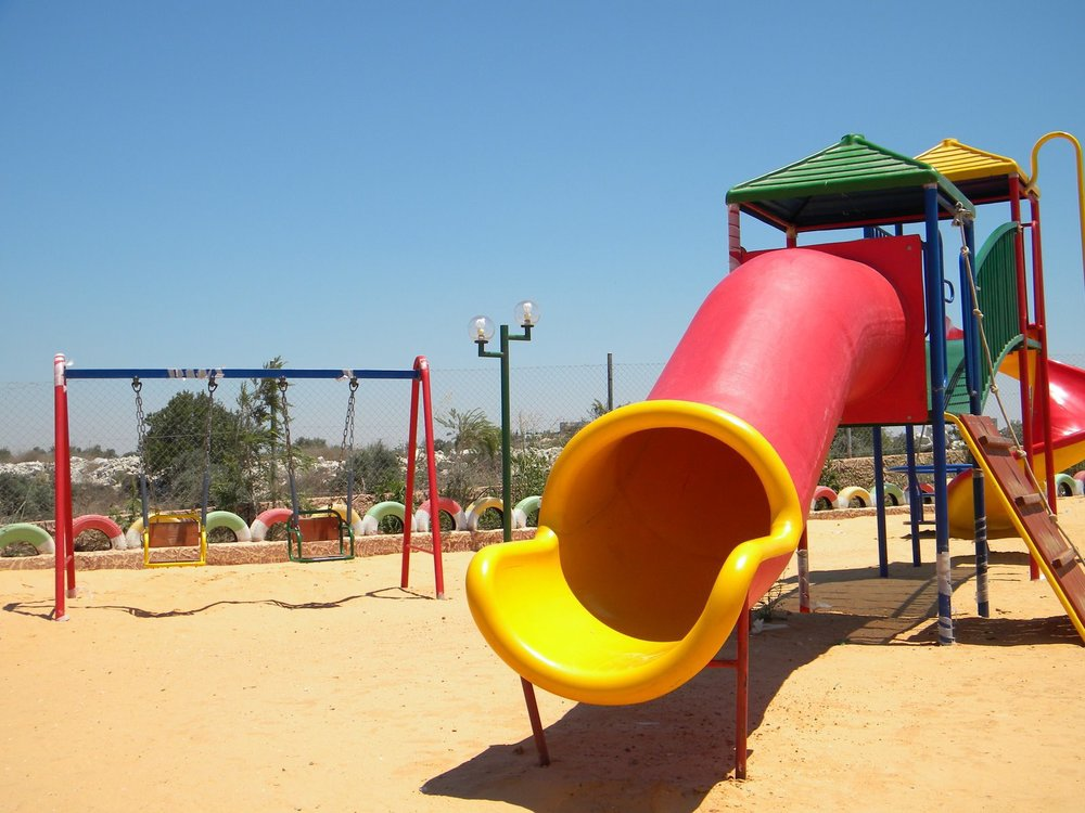 Playground built by World Vision in the Jenin area of the West Bank.