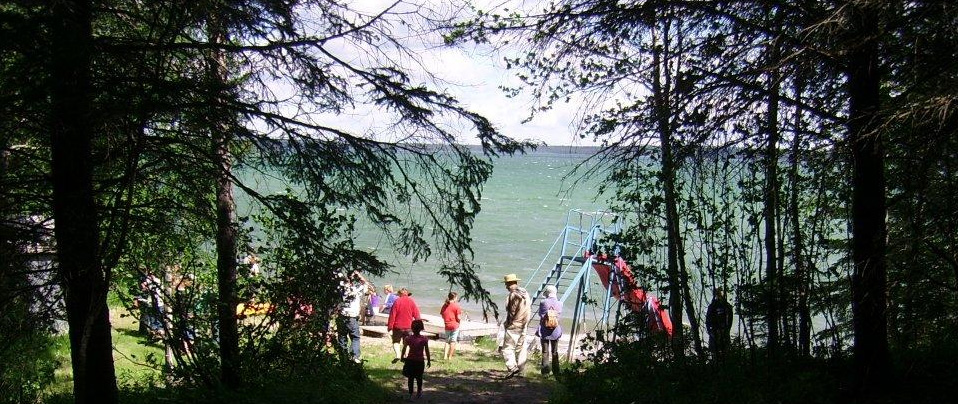 The beach on Clear Lake, Covenant Heights Bible Camp, Manitoba.