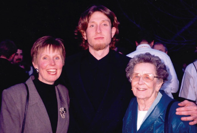 Three generations of graduates: Gail Blackwood, Jeremy and Winona (Ericson) Enarson