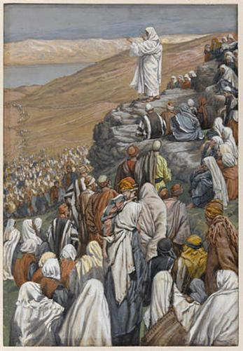 Tissot, James. The Sermon on the Mount. 1896. WikiPaintings. Web. 19 January 2016  <www.wikipaintings.org>. This artwork is in the public domain.