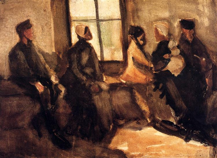 Van Gogh,Vincent.  Waiting Room . 1882. WikiPaintings. Web. 7 February 2017. <www.wikipaintings.org>. This artwork is in the public domain.