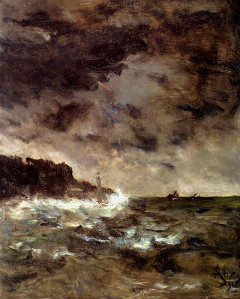 Stevens, Alfred. A Stormy Night. 1892 WikiPaintings. Web. 7 February 2017. <www.wikipaintings.org>. This artwork is in the public domain.