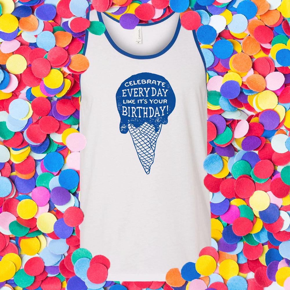 T-shirt design for summer tanks.