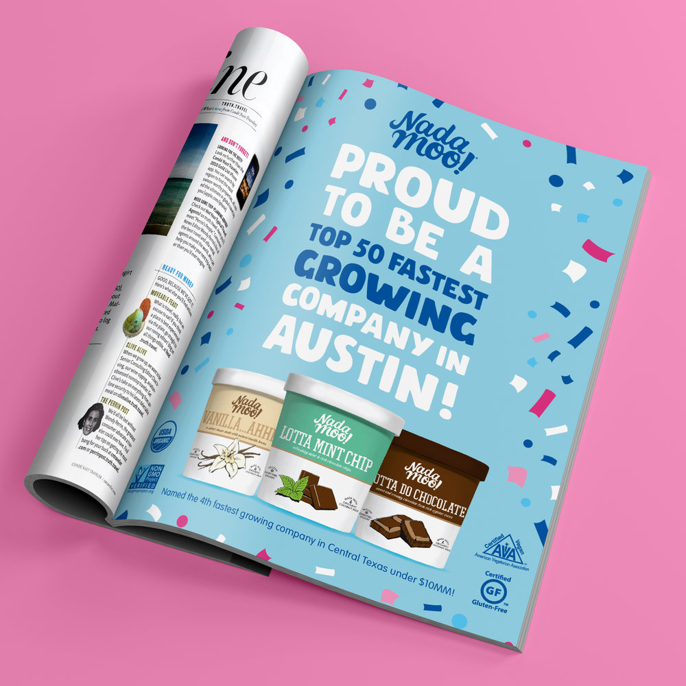 Print advertisement for Austin Business Journal magazine.