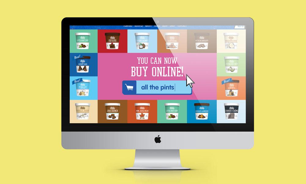Web banner advertising new online store.