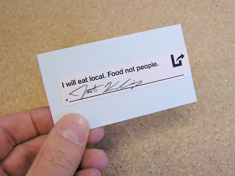Personal pledge cards for our community group Lincoln Green by Design