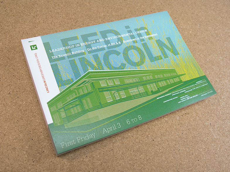 LEED in Lincoln Event postcards.