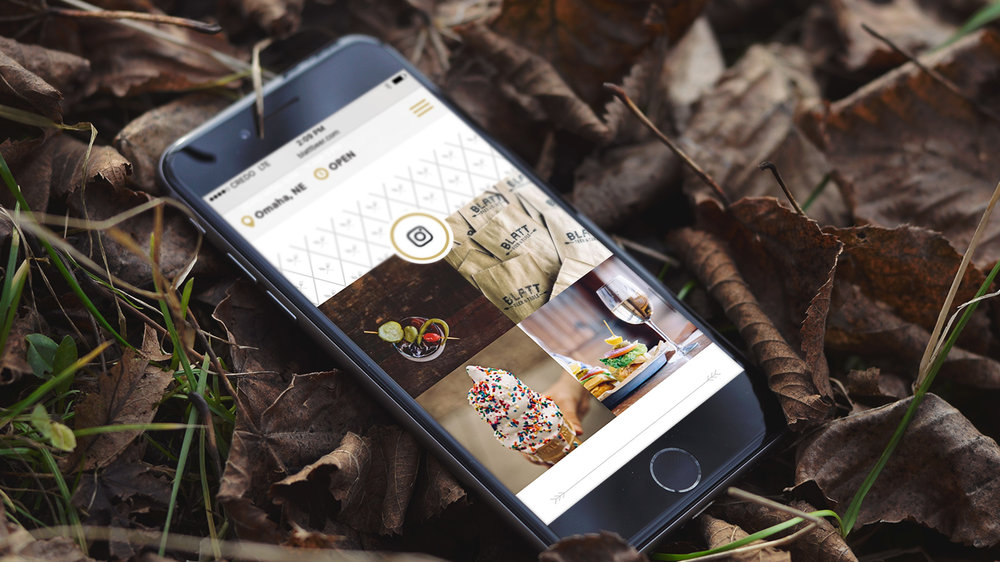 "Free  Invision  Mockup #7:   ""Yay sprinkles! Yay olives! But why is this phone in a pile of leaves?"""