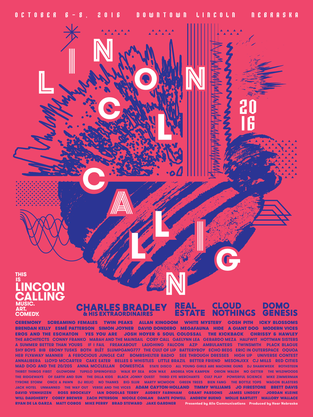 Lincoln Calling 2016: Music. Art. Comedy.