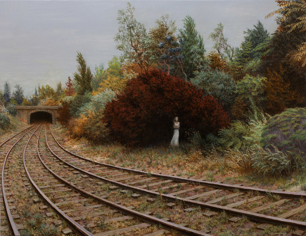 Delayed , oil on canvas, 31 x 40 in / 79 x 102 cm, 2012
