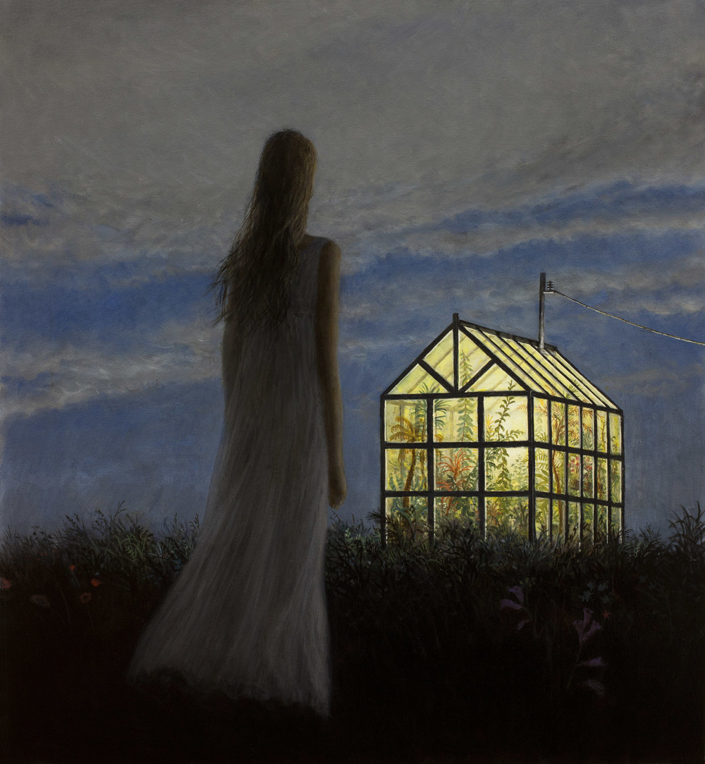 Greenhouse , oil on canvas, 33 x 30 in / 84 x 76 cm, 2012