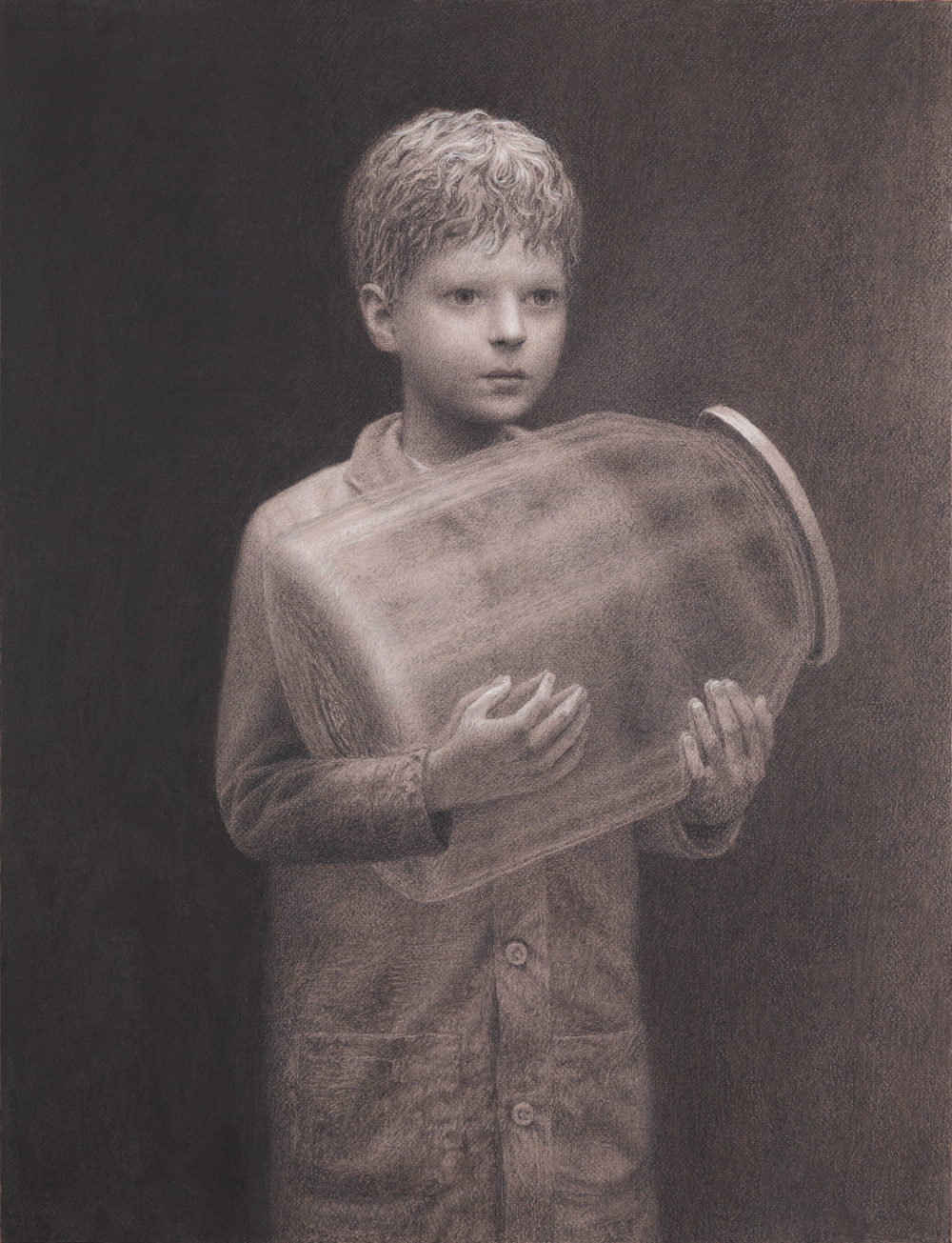 Thomas , charcoal on paper, 25.5 x 19.5 in / 65 x 50 cm, 2011