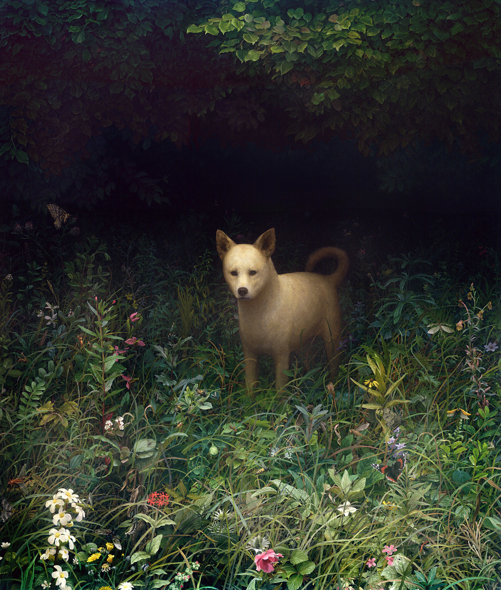 Dog , oil on canvas, 72 x 60 in, 2007