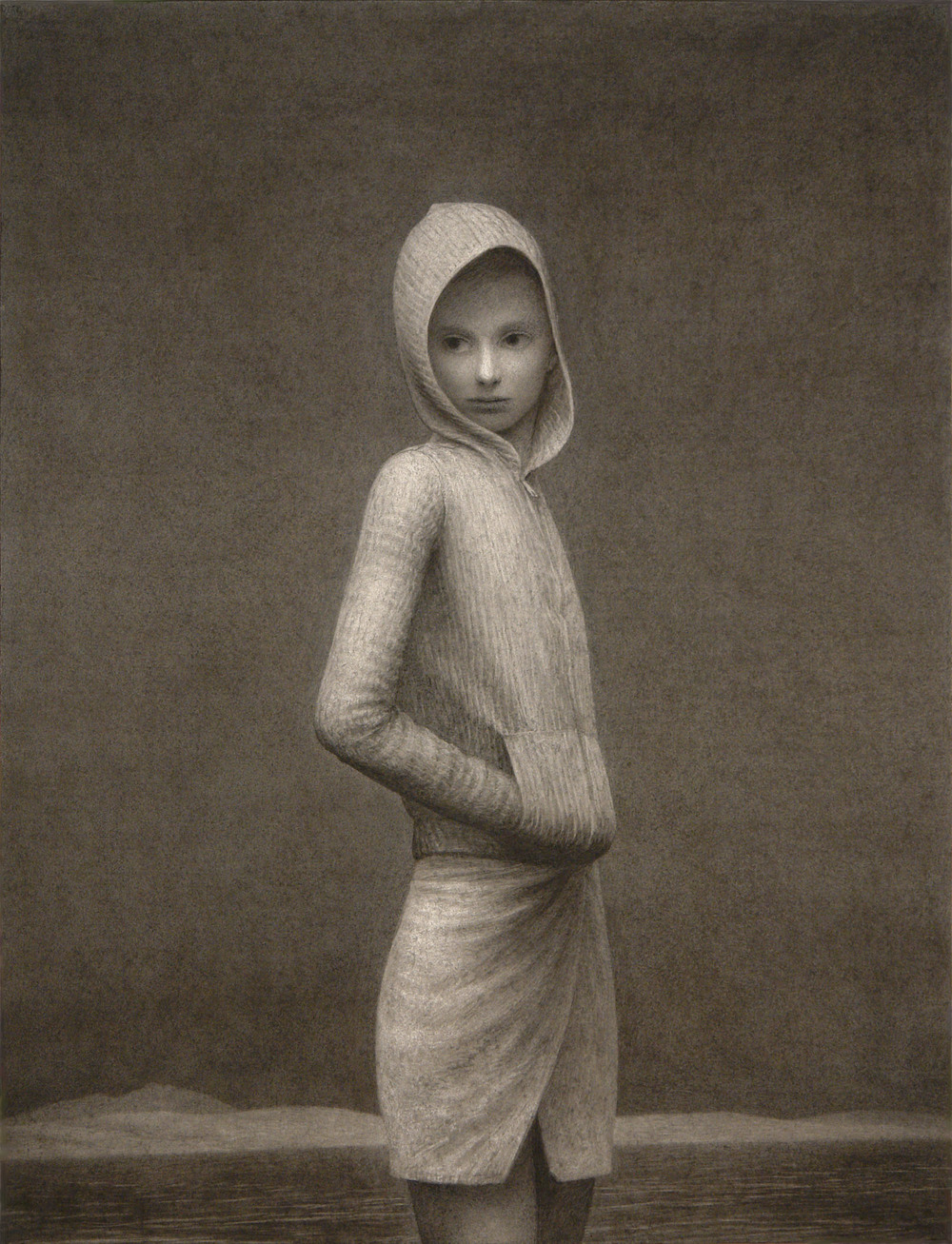 Princess , charcoal on paper, 50 x 38 in, 2006