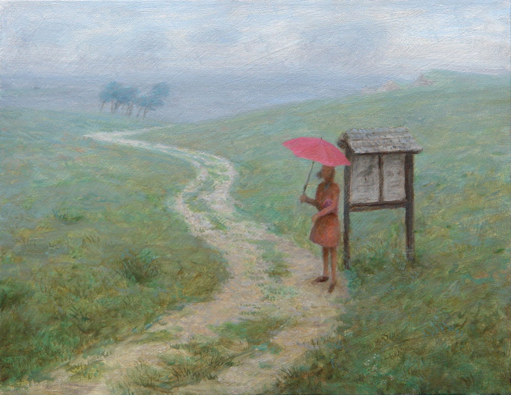 Waiting At The Bird Sanctuary , oil on canvas, 14 x 18 in, 2006