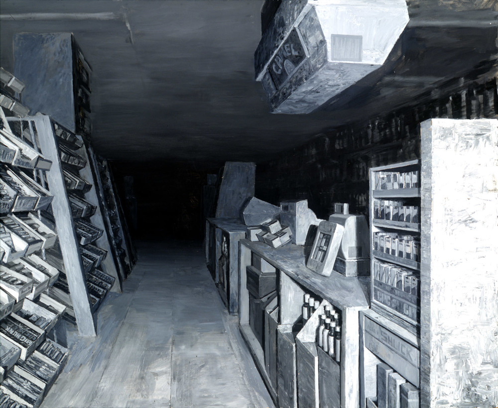Liquor Store At Night , oil on panel, 48 x 60 in, 1999