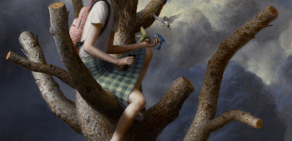 The Tree (detail) , oil on canvas, 47 x 35 in / 119 x 89 cm, 2012