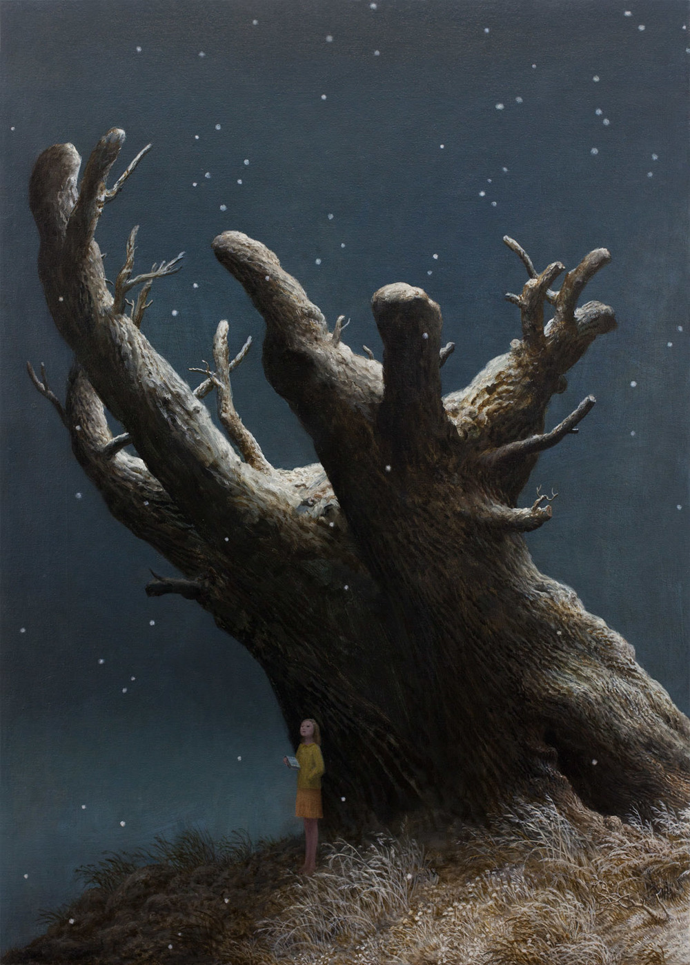 God of the Forest , oil on canvas, 39.25 x 28 in, 2014