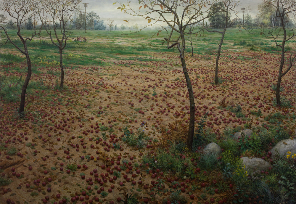 The Orchard , oil on canvas, 64 x 93 in, 2014