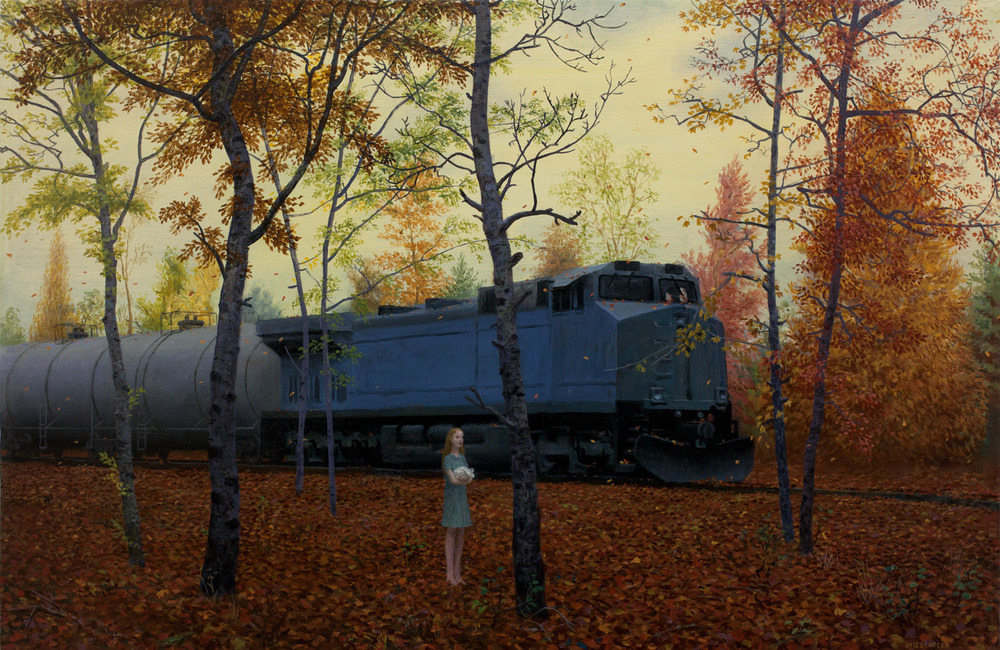 October , oil on canvas, 22.75 x 35 in, 2014