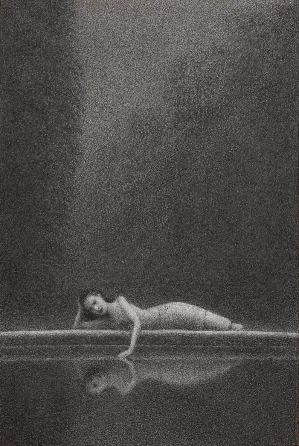 Vigil 6 , charcoal on paper, 15 x 10 in / 38 x 25 cm, 2013