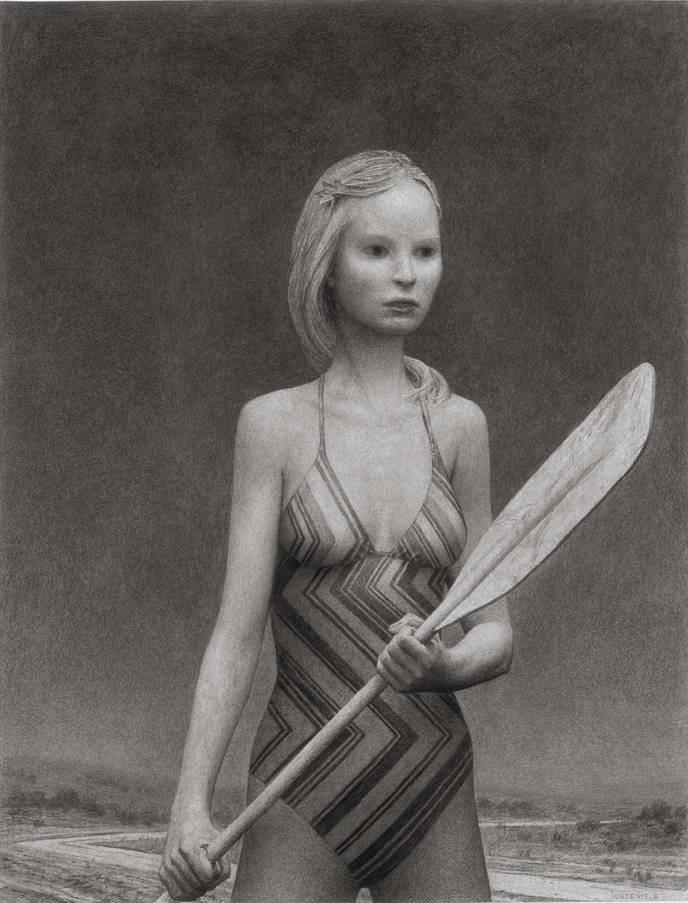 Dawn , charcoal on paper, 50 x 38 in, 2006