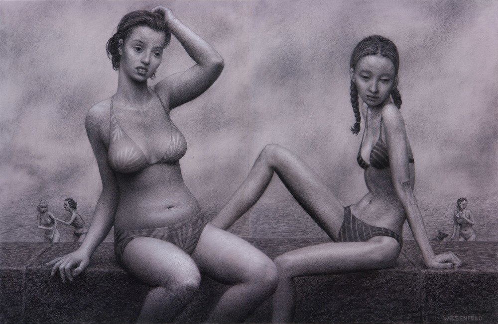 Promenade , charcoal on paper, 24.5 x 38 in, 2007