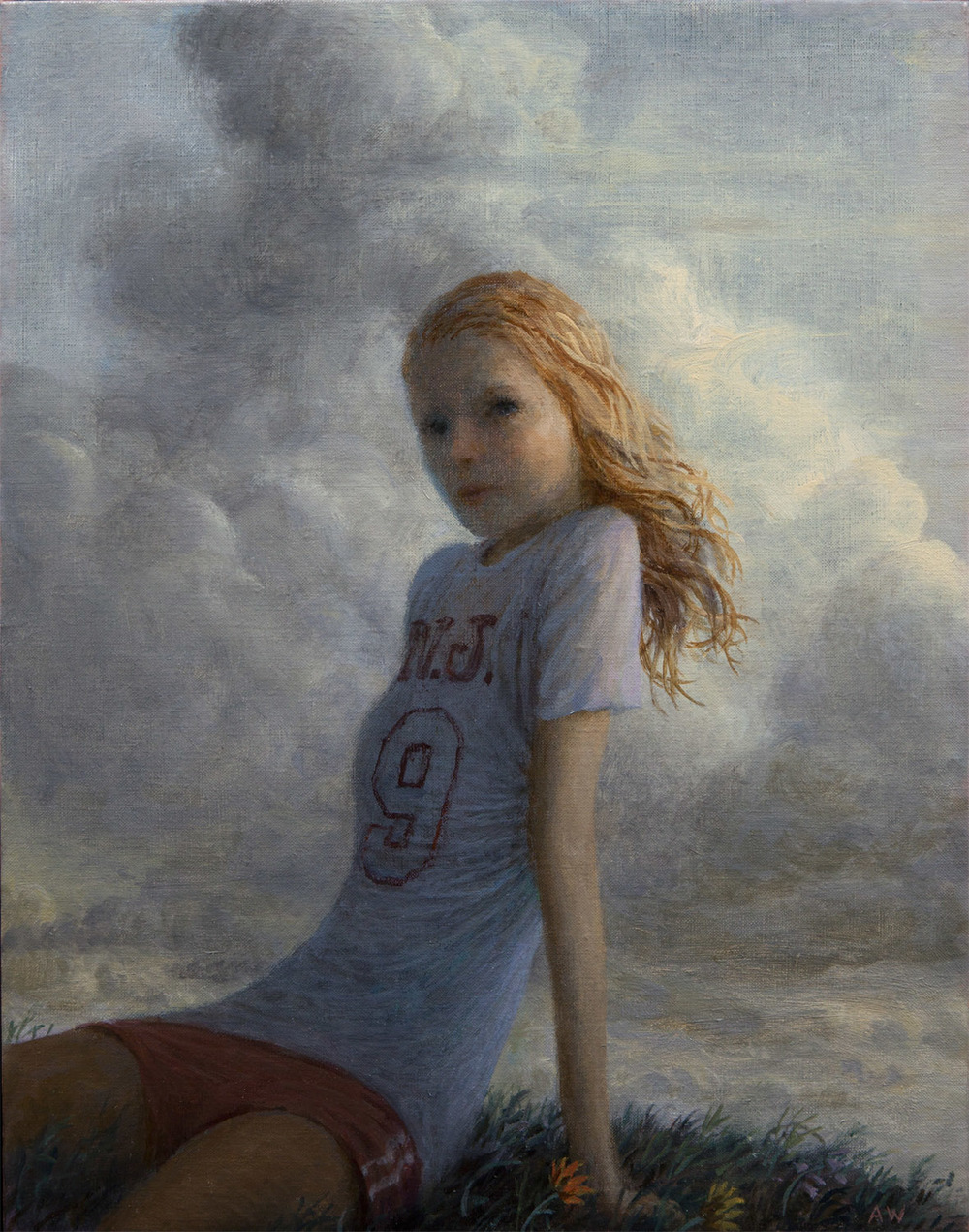 Krystal , oil on linen, 14 x 11 in, 2016