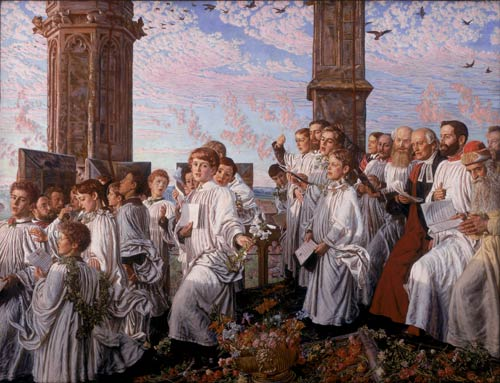 'May Morning on Magdalen Tower' 1890, by Holman Hunt (1827-1910)