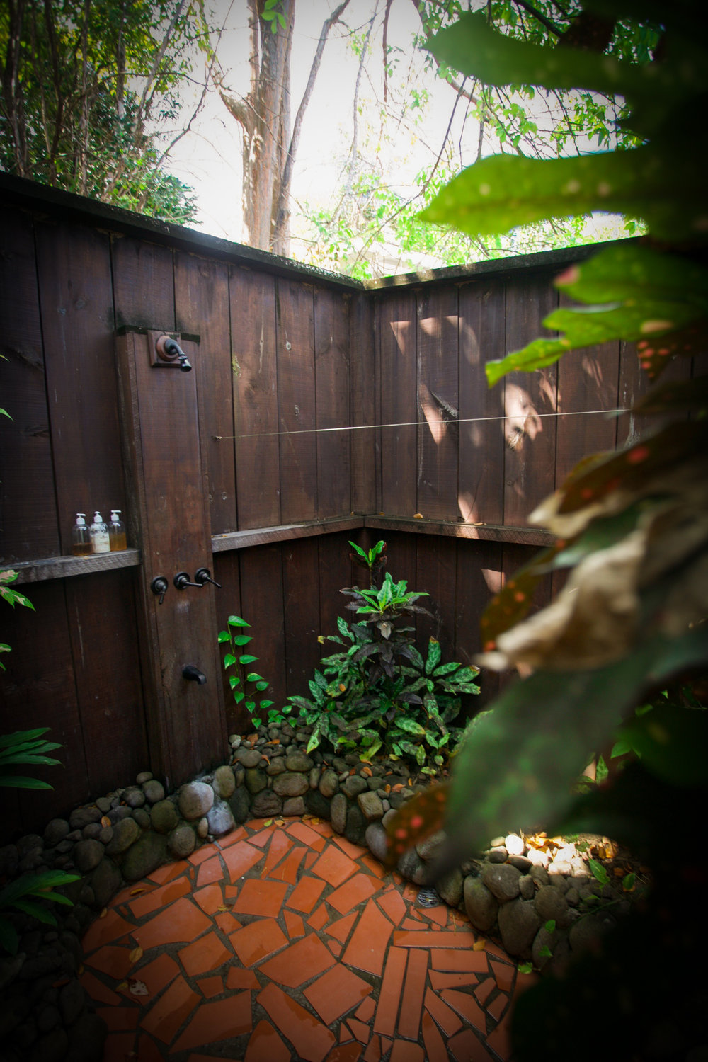 Ti Kaye Resort's private outdoor spa shower we will miss bathing in the warmth of the sun every morning and taking a relaxing evening rinse under the moonlit sky. Oh and they make their own spa shower products provided to guests during their stay inspired by the islands gifts of coconut, chocolate, and other fruits and herbal infusions. Photography Courtesy of The Aisle Photography