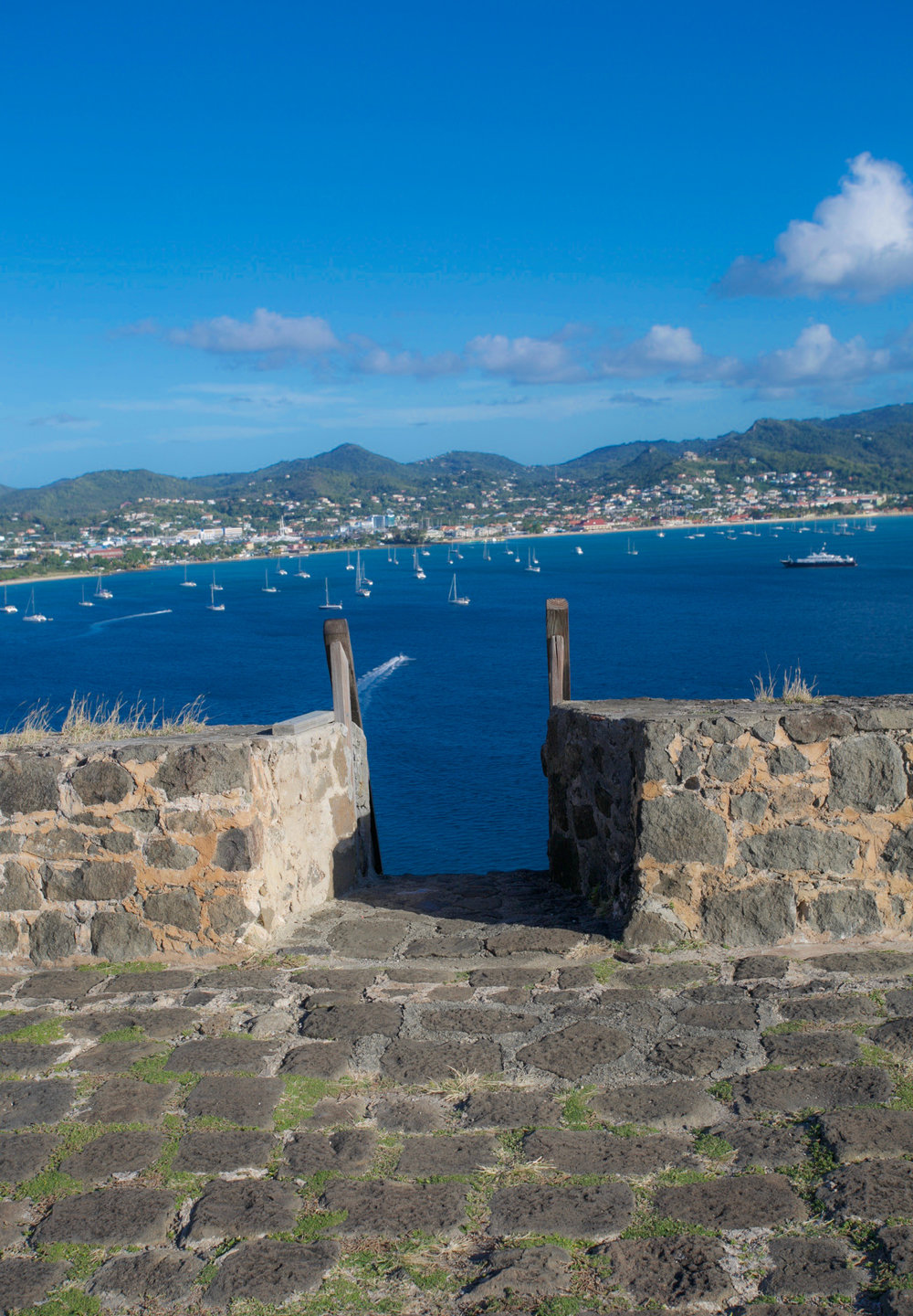 Pigeon Island views at the top of the fort Photography Courtesy of The Aisle Photography