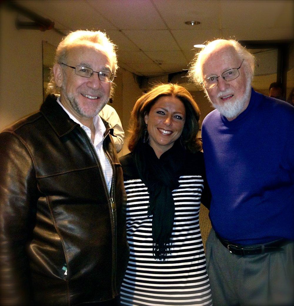 Mentor, teacher, friend Bob Bernhardt and Composer, Conductor, and extrodinary man John Williams