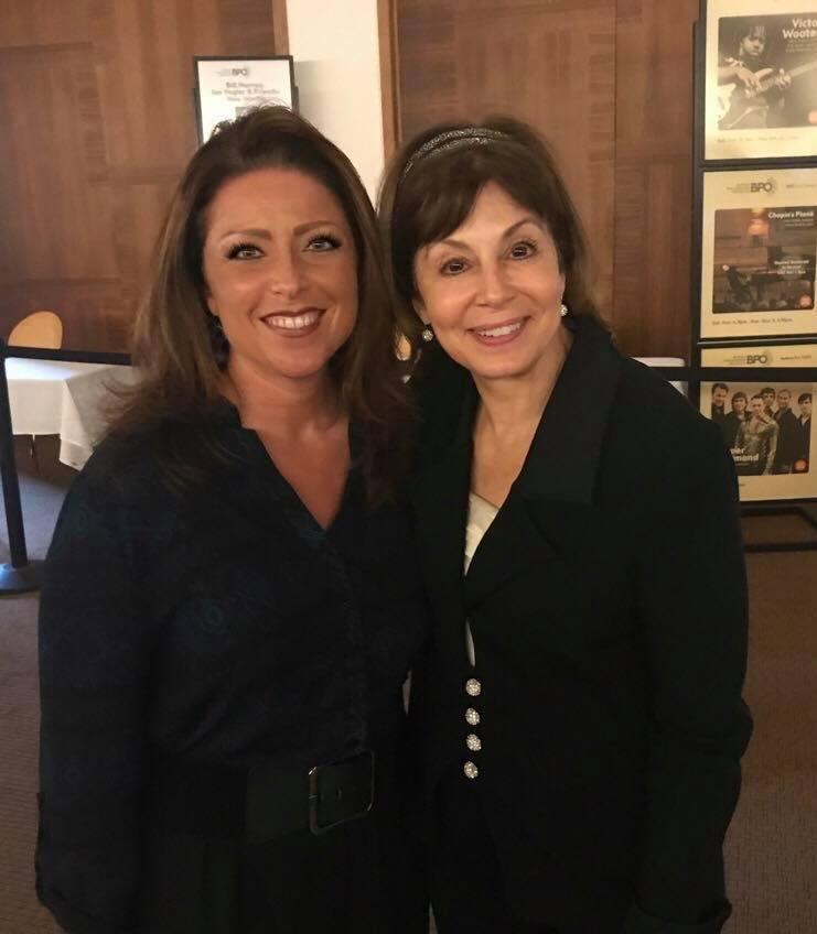 Sarah Pearson and JoAnn Falletta, such a dear friend and incredible mentor!