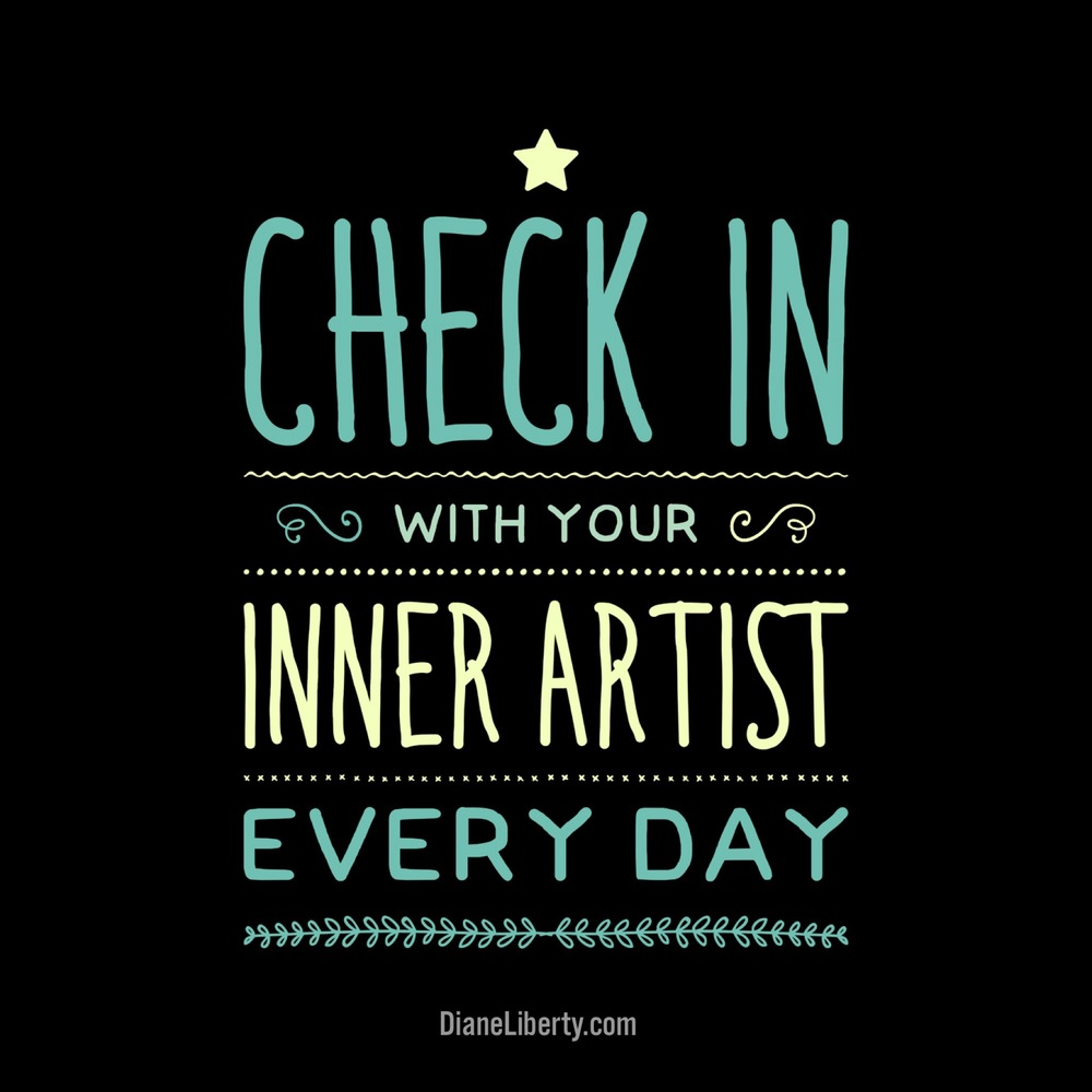 check in with your inner artist