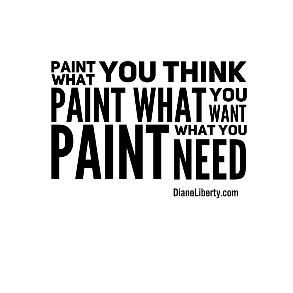 Paint What You Think - Want - Need
